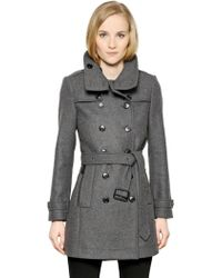 Burberry Brit - Daylesmoore Wool Blend Trench Coat - Lyst