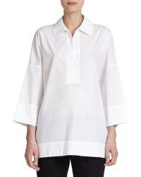 ESCADA Cotton Tunic Blouse - Lyst