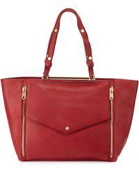 Cynthia Rowley Sasha Double-zip Leather Tote Bag - Black