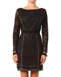 Tara Jarmon Black Bodycon Dress - Lyst