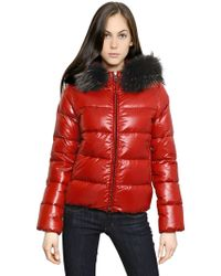 Duvetica - Adhara Nylon Down Jacket with Fur - Lyst