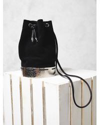 Free People Suede Bucket Bag - Lyst