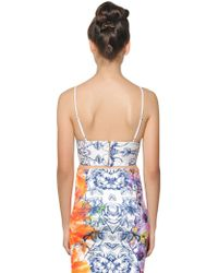 Clover Canyon - Birds Of A Feather Printed Neoprene Top - Lyst