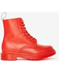 Nasty Gal Doc Martens Pascal 8-Tie Boot - Red - Lyst