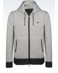 Emporio Armani Full Zip Sweatshirt With Hood - Lyst