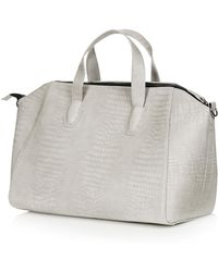 TOPSHOP - Croc Winged Luggage Bag - Lyst