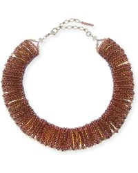 Marina Rinaldi - Lynette Beaded Collar Necklace - Lyst