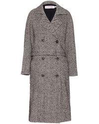 See By Chloé Herringbone Wool Coat - Lyst