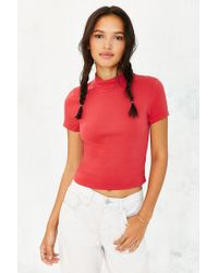 Truly Madly Deeply Vanessa Mock-Neck Top - Lyst