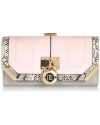 River Island Pink Colour Block Padlock Purse pink - Lyst