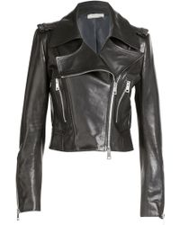 Bouchra Jarrar Leather Biker Jacket - Lyst
