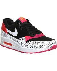 Nike Air Max 1 Fireberry Leather Trainers - For Women - Lyst