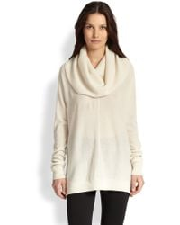Vince Wool & Cashmere Draped Turtleneck Sweater - Lyst