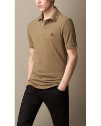 Burberry Contrast Undercollar Polo Shirt - Lyst