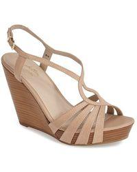 Seychelles 'Brunette' Leather Wedge Sandal - Lyst