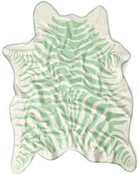 Maslin & Co. Mint Green Zebra Beach Towel - Lyst