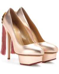 Charlotte Olympia Fantastic Dolly Metallicleather Pumps - Lyst