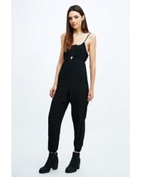 Sparkle & Fade - Lace Insert Jumpsuit in Black - Lyst