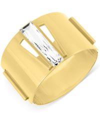 Swarovski Brancusi Gold-tone Bangle Bracelet - Lyst