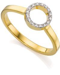 Monica Vinader Diva Mini Circle Open Ring - White