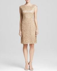 Sue Wong Dress - Boat Neck Soutache Sheath - Lyst