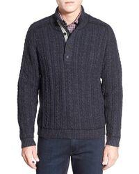 Borgo 28 - Half Zip Mock Neck Cable Knit Sweater - Lyst