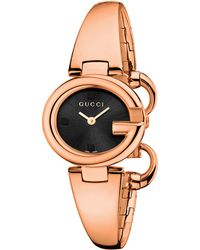 Gucci Ladies Ssima Pink Goldtone Watch 27mm - Lyst