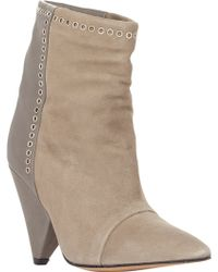 Isabel Marant Suede & Leather Lance Ankle Boots - Lyst