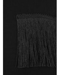 Grace MMXIII Chadwick Black Fringed Mini Dress