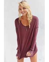 Truly Madly Deeply Inside-Out Long-Sleeve Top - Lyst