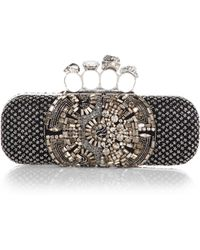 Alexander McQueen Embellished Knuckle Clutch - Lyst