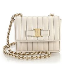 Ferragamo Ginny Small Quilted Chain Crossbody Bag - Lyst