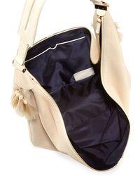 The Row Sling 15 Horsehair-Tassel Hobo Bag - Natural