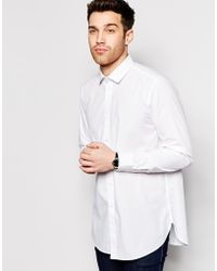 Asos Shirt With Long Sleeves In Longline - Lyst