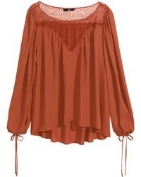 H&M Wide Blouse - Lyst