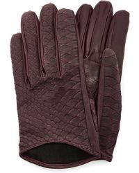 Imoni | Short Python And Lambs Leather Gloves | Lyst