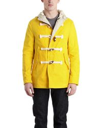 Rag & Bone Northside Duffle Coat yellow - Lyst