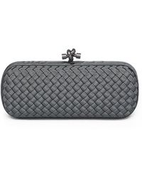 Bottega Veneta Long Knot Satin Clutch - Lyst