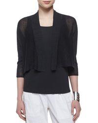 Eileen Fisher 3/4-Sleeve Kimono Cardigan - Lyst