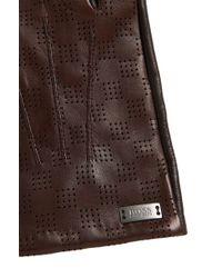 BOSS - 'hey-tt'   Lambskin Perforated Touchscreen Gloves - Lyst