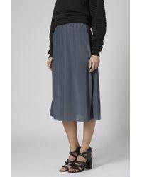 Topshop Silk Slip Skirt by Boutique - Lyst