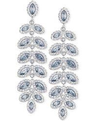 Swarovski Rhodium-plated Crystal Drop Earrings - Lyst