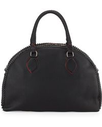 Christian Louboutin Panettone Large Spiked Satchel Bag Black - Lyst