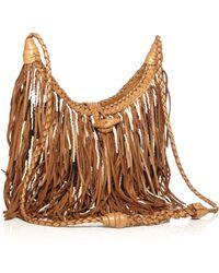 En Shalla Bead Fringe Leather Bag - Lyst