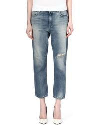 Acne Studios Pop Distressed Boyfriend Jeans Trash - Lyst