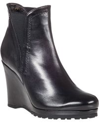 Vaneli For Jildor Jamilla Wedge Boot Black Leather - Lyst