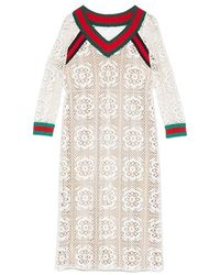 Gucci | Macrame Knit Dress | Lyst