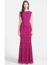 Dolce & Gabbana Lace Trumpet Gown - Lyst