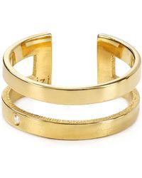 Jennifer Zeuner Yvette Dual Band Midi Ring gold - Lyst