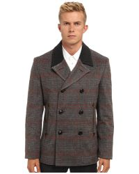 Marc Jacobs Runway Check Pea Coat - Lyst